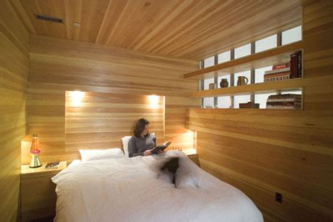 woodwork room entirely wood unusually warm bedroom interior design