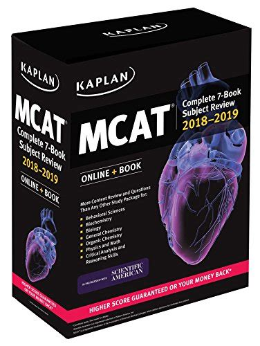 pcat prep plus 2018 2019 2 practice tests proven strategies kaplan test prep mcat complete 7 book subject review 2018 2019