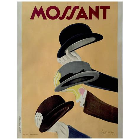 deco period quot mossant quot advertising poster by leonetto cappiello 1938 for sale at 1stdibs