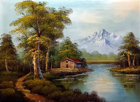 bob ross of painting uk bob ross painting cabin by william tillis 183 june 4 2014