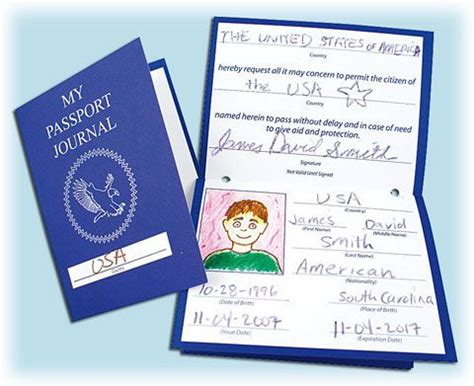 All About Me Passports Preschool Me I Am Special