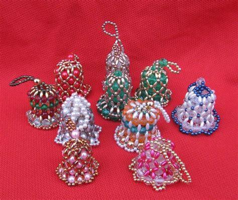 beaded bell ornament vintage beaded bells tree ornaments set of 10