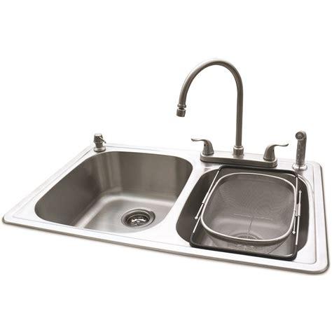 american standard stainless steel kitchen sinks shop american standard silver basin drop in kitchen