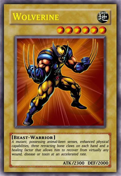make yugioh cards wolverine yu gi oh card casual card design yugioh