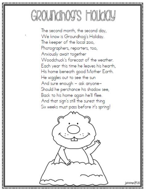 groundhog day poetry mrs brinkman s groundhog day 2015