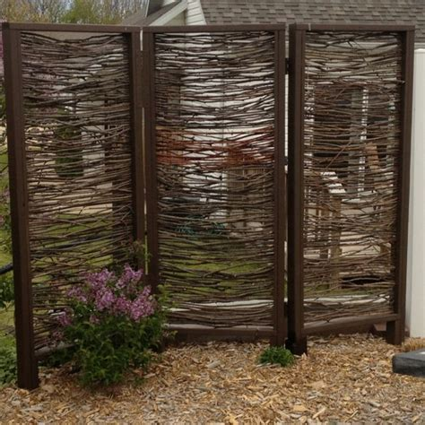 privacy screens for backyards outdoor privacy screen installed made with branches by my