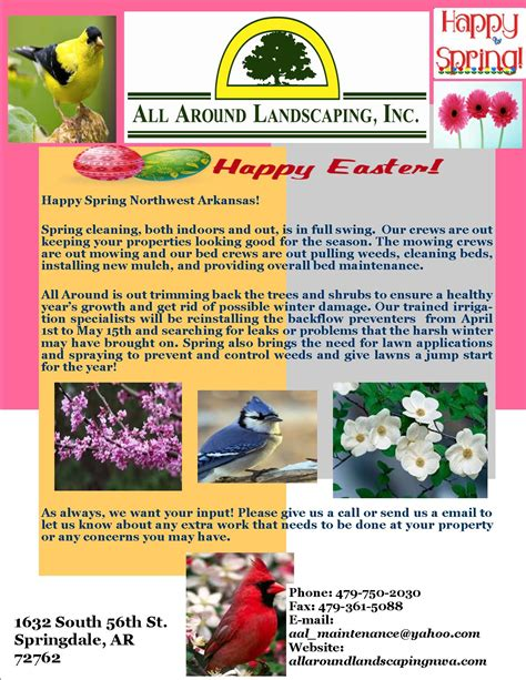 all around landscaping newsletters