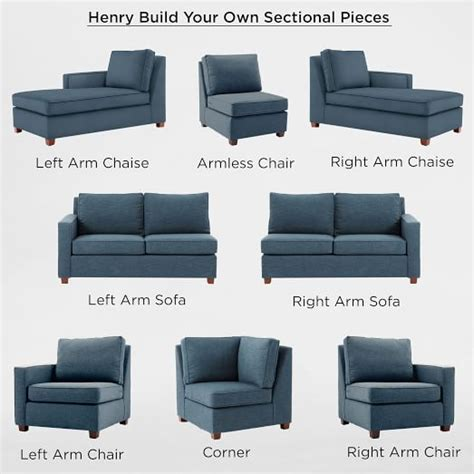 how to build a sectional sofa build your own henry 174 sectional pieces west elm