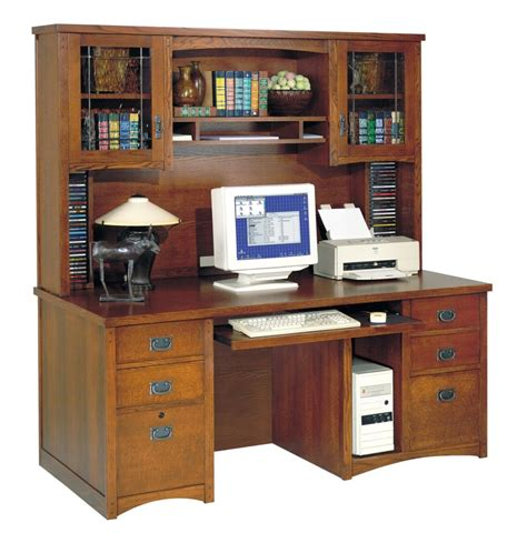 desks with storage l shape brown wooden computer desk with five hutch feat