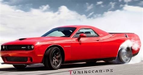 Dodge Hellcat Truck by Dodge Challenger Hellcat Rendered As The
