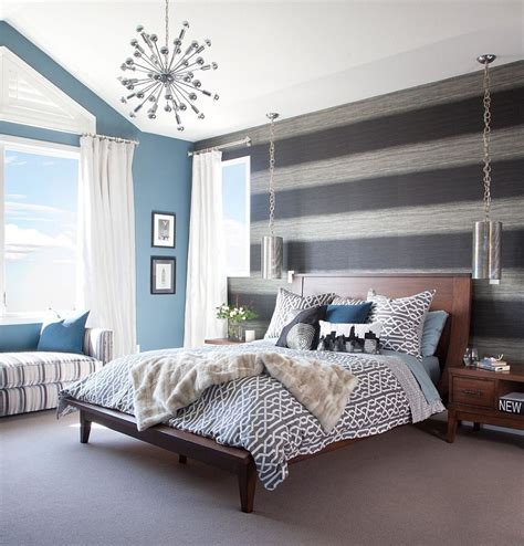 accent wall bedroom 20 trendy bedrooms with striped accent walls