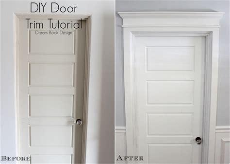 how to trim an exterior door diy door trim tutorial book design