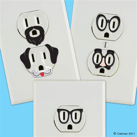 wall stickers outlet creative outlet stickers give electric wall outlets