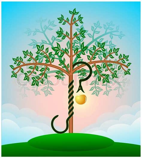 Garten Baum Der Erkenntnis by Farbige Bibel Baum Der Erkenntnis Mit Der Schlange Und