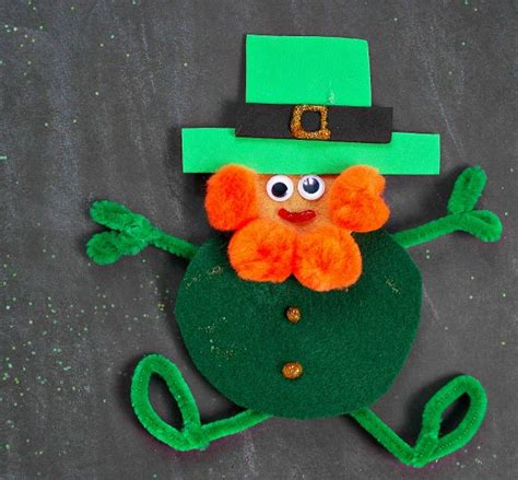 leprechaun craft for easy leprechaun felt craft