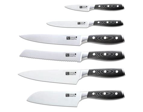 sets of kitchen knives rockingham forge professional rf9100 9 knife set with canvas kitchenknives co uk