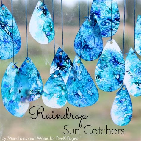 water crafts for raindrop suncatchers pre k pages