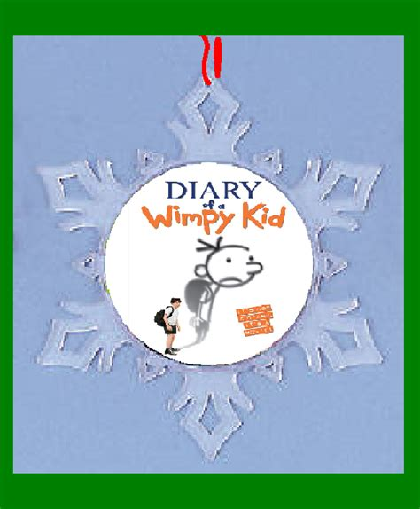 diary of a wimpy kid crafts diary of a wimpy kid snow flake ornament