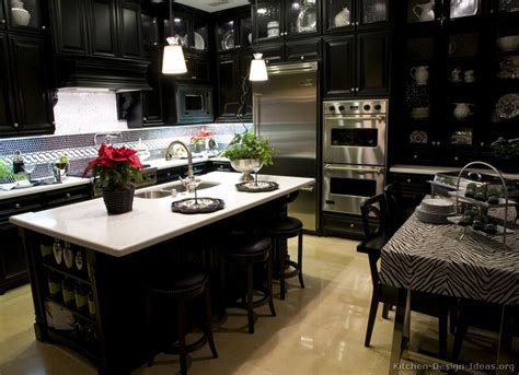 kitchens with black cabinets pictures of kitchens traditional black kitchen cabinets