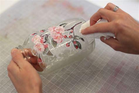 Decoupage Techniques Glass Jar Adorable Home