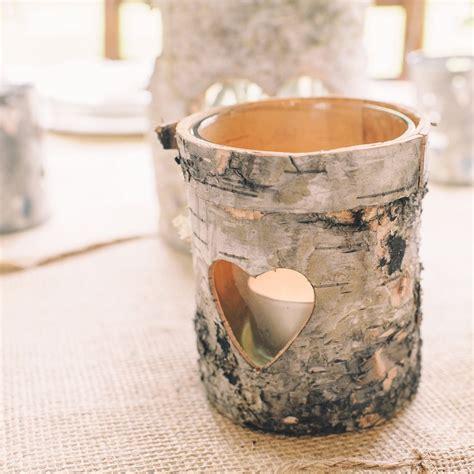 tea tree light holders rustic bark tea light holder set of 3 the wedding of