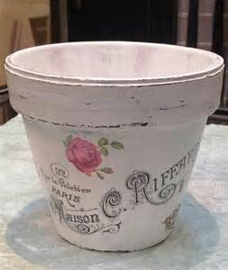 decoupage clay pots ideas diy decoupage flower pot with image from graphics