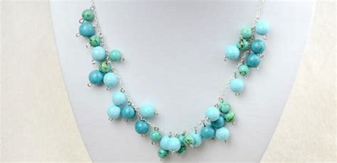 how to make a simple beaded necklace easy steps on how to make a turquoise beaded chain