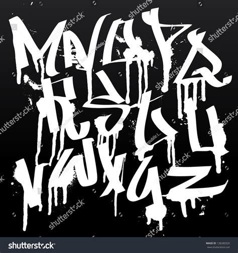 cool spray paint font graffiti font alphabet letters hip hop stock vector