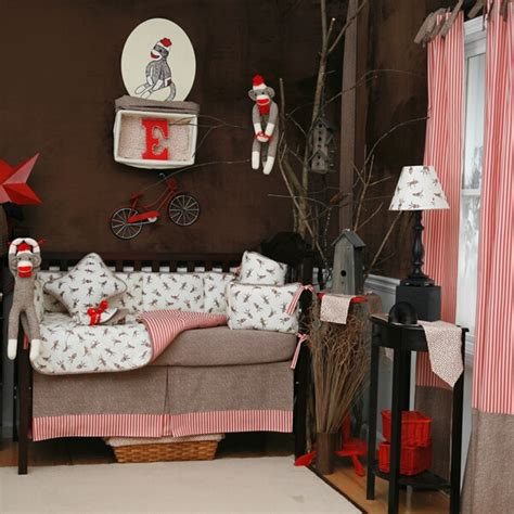 sock monkey crib bedding giveaway create your own baby bedding