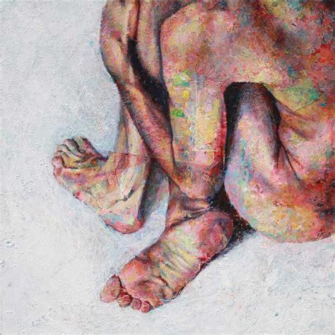acrylic painting human david agenjo figurative acrylics