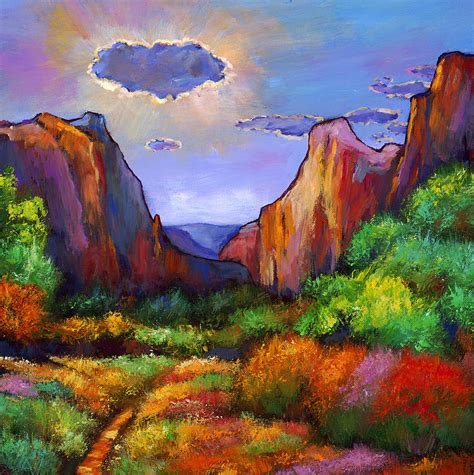 Zion Dreams Painting By Johnathan Harris