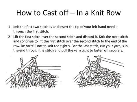 knitting how to end knitting basics