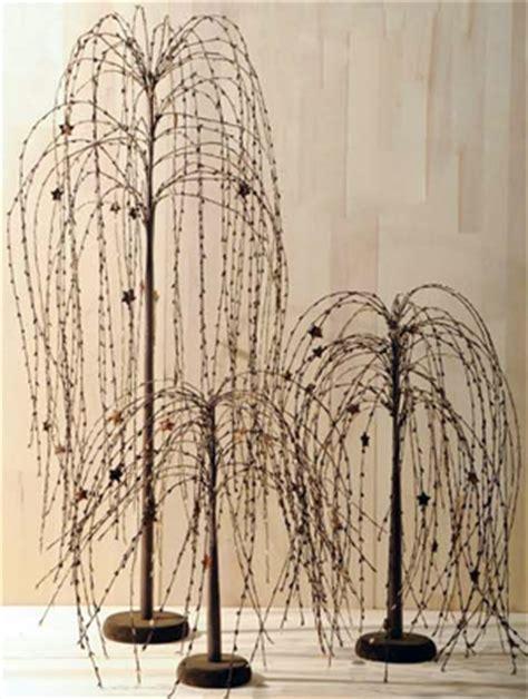 primitive willow tree decor on primitives