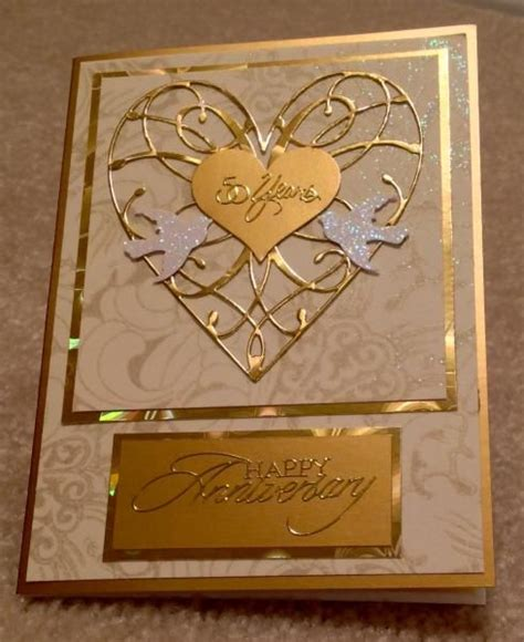 golden wedding cards to make best 25 50th anniversary cards ideas on