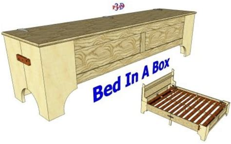 bed and box 098 california king size folding bed 3d woodworking plans
