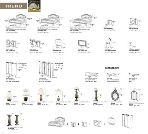 bedroom furniture dimensions 30 trend ivory bronze camelgroup italy classic