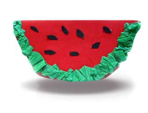 watermelon paper craft watermelon crafts motor and picnics on