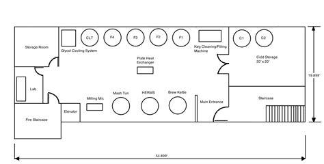 nano brewery floor plan microbrewery floor plan