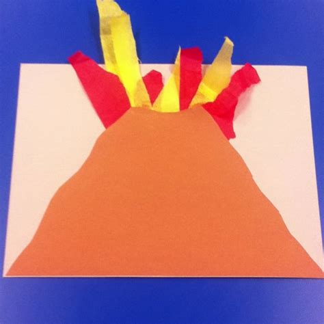 volcano craft for volcano craft to go along with dads we had the