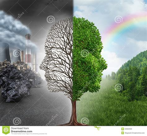 chagne trees environment change stock illustration image of concept