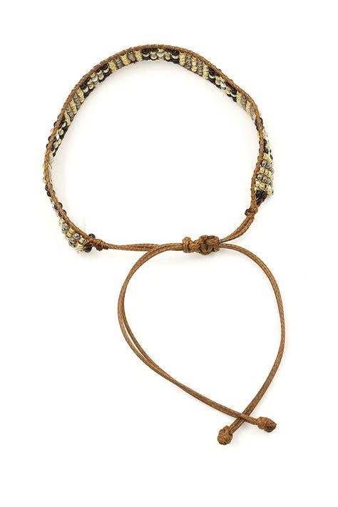 how to tie bead bracelets wax cord seed bead pull tie bracelet bracelets