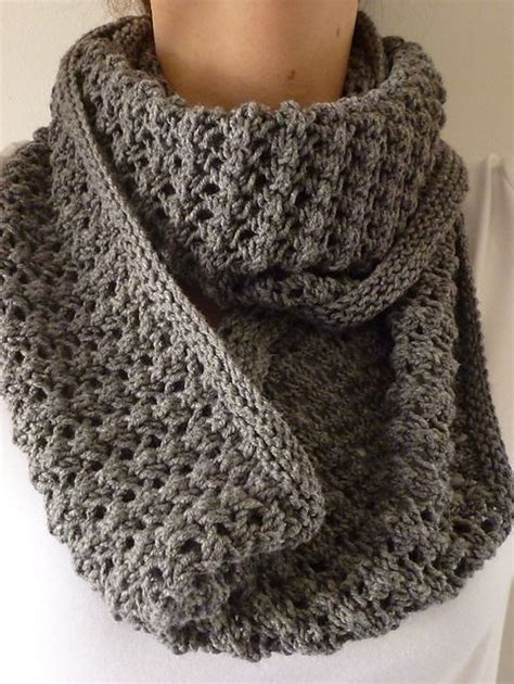 easy lace cowl knitting pattern easy lace knitted cowl free pattern knitting