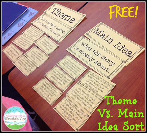 picture books for idea and details teaching with a mountain view teaching idea vs theme