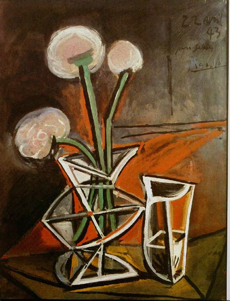 picasso paintings vase vase with flowers pablo picasso wikiart org