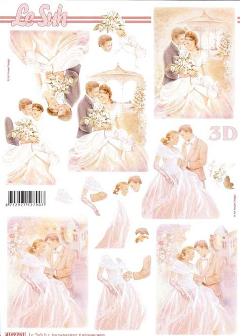 wedding decoupage sheets wedding 4 3d decoupage sheet from le suh
