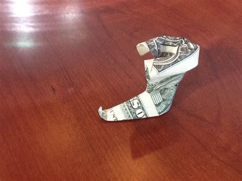 origami boot dollar bill dollar origami boot