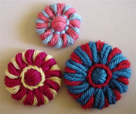 how to knit a flower on a loom flower looms disc flower