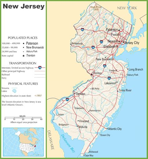 in new jersey new jersey highway map