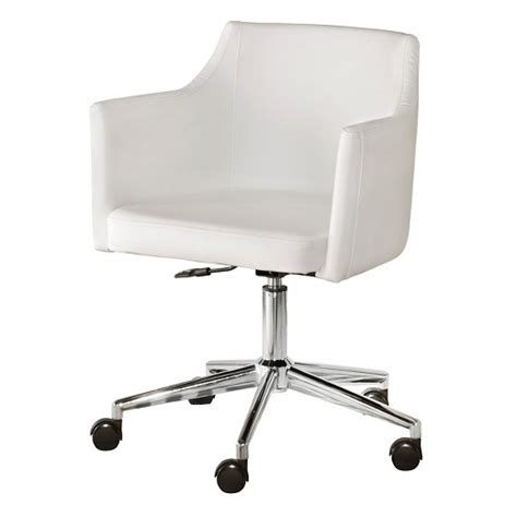 white chair for desk baraga home office swivel desk chair white signature