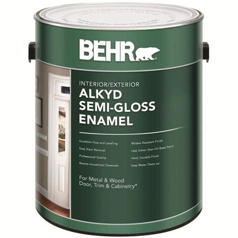 behr interior paint colours canada behr behr interior exterior alkyd semi gloss enamel paint